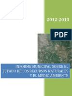 Informe Estado Recursos Naturales