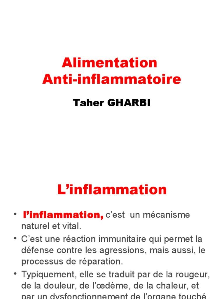 anti inflammatoire oedeme