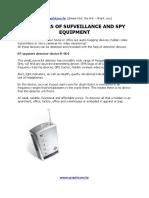 Spy Detectors for all surveillance gadgets