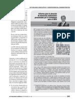 Criterios para la atención de denuncias ambientales presentadas por la ciudadanía ante el OEFA