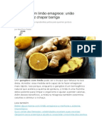 Gengibre Com Limão Emagrece