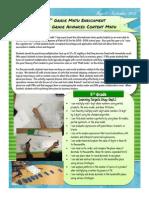 5th math newsletter aug sept 15