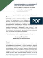 CINEMA E LITERATURA Adaptação Ou Hipertextualização