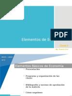 Elementos de Economía - Clase I