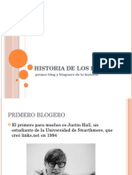 Historia de los Blogs