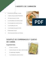 20 recetas de cocina