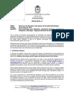 Circular No 14 Fraccionamiento Segundo Semestre de 2014