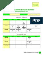 Horarios 2_ Semstre 2015 Final_V3