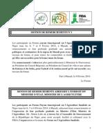 4- Motions de Remerciements Forum Maradi