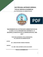 Mejoramiento Procesos Administrativos