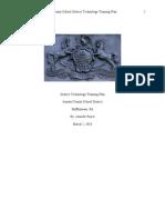 District Tech Tng Plan - Royer