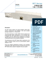 Paradise Datacom RF7 Series X-band LNA Data Sheet 200415 RevL