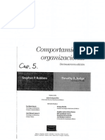 Robbins y Judge_Comportamiento Organizacional_Cap 5_ed 13 2009