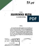 Jurisprudencia Militar Al Alcance de Todos (1847)