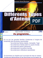 3-Differents Types d'Antennes