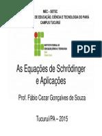 breves comentarios - Equações de Schröendinger (versão preliminar).pdf