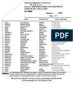 Room Assignments CPA exam Oct 2015