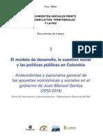 El modelo de desarrollo, la cuestión social y las políticas públicas en Colombia.