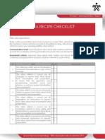 Preparing a Recipe Checklist