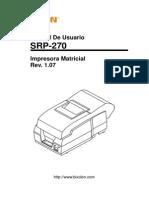Manual Srp-270 User Spanish Rev 1 07