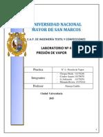 PRESION de VAPOR B14