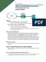 7 2 1 8 Practica de Laboratorio Uso de Wireshark Para Observar El Protocolo TCP de Enlace de Tres Vias