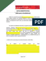 Acta Constitutiva (S-lo Para Simuladores)