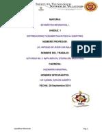 ESTADÍSTICA INFERENCIAL (TEORÍA DEL MUESTREO)