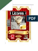 Etiqueta de Licor de Crema
