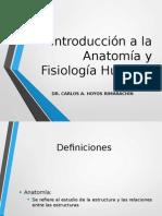 Introduccion a La Anatomia y Fisiologia