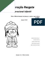 Cartilha Devocional Infantil Operação Resgate