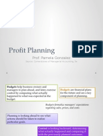 Chapter 9 - Profit Planning