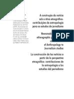 A Construção Da Notícia Sob a Ótica Etnográfica Contribuições