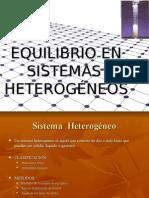Equilibrio en Sistemas Heterogéneos