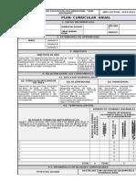 1.1 Formulario Plan Curricular Anual Portafolio Docente Ecuador 2015 Formato Word