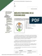Análisis Funcional de La Personalidad - Psicología Práctica en Clase2