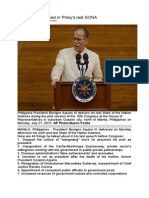 46 Items Mentioned in PNoy