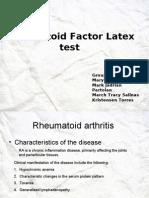 Rheumatoid Factor Latex test partolan.ppt