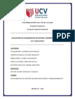 """Aplicación de Fundamentos de Gestión y Emprendimiento a La i.e.p """"Santa Rita"""""""