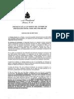 Proyecto de La Ley Marco Del Sistema de Protección Social Para Una Vida Mejor Firmada