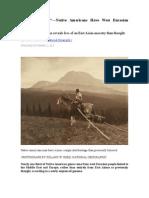 Great Surprise—Native Americans Have West Eurasian Origins