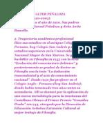 Biografía Walter Peñaloza Ramella