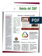 Boletín del ISAP No. 1 Octubre 2015