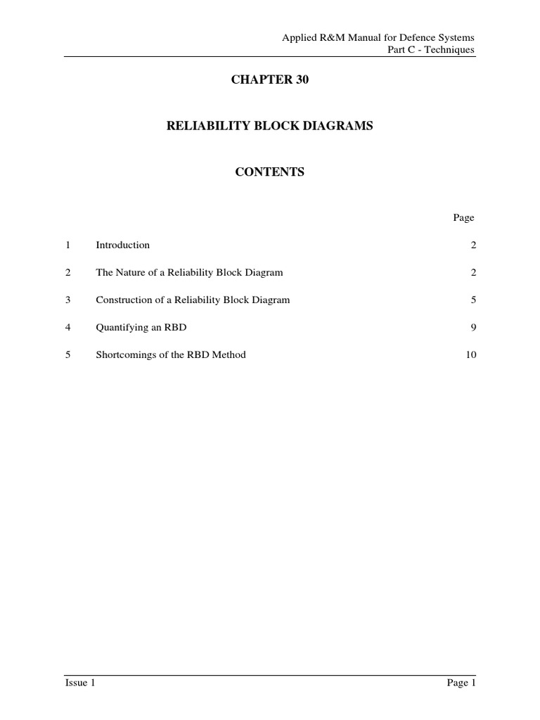 reliability block diagrams reliability engineering technology rh scribd com