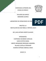 Reporte No. 14 Destilación de una mezcla metanol-agua.docx