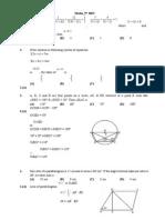 HRT-3 for 9th test math