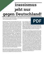 Antirassismus geht nur gegen Deutschland!