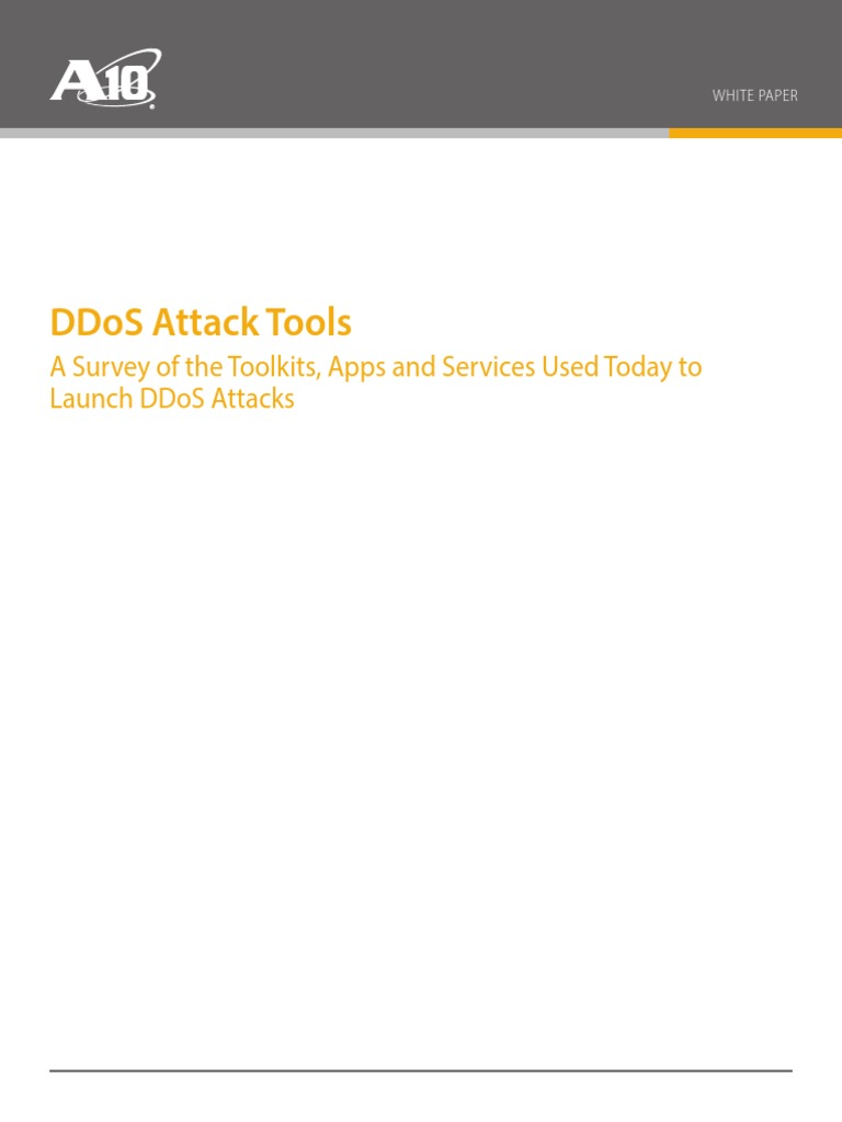 DDoS Attack Tools | Denial Of Service Attack | Computer Security