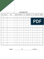 Uniform Measurement Sheet Format