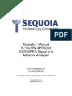 GSM&GPRS Signal Strength Meter SWGPRS023 - User Manual